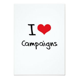 I love Campaigns 13 Cm X 18 Cm Invitation Card