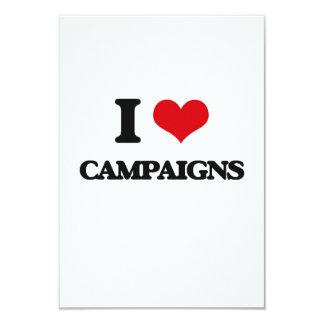 """I love Campaigns 3.5"""" X 5"""" Invitation Card"""