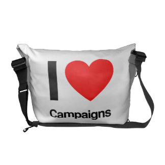 i love campaigns messenger bags