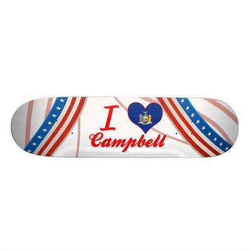 I Love Campbell, New York Custom Skate Board