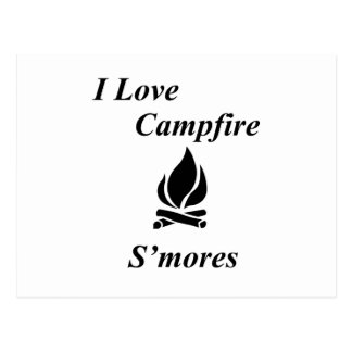 I Love Campfire S'mores Postcard