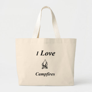 I Love Campfires Large Tote Bag