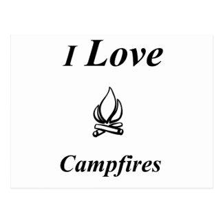 I Love Campfires Postcard