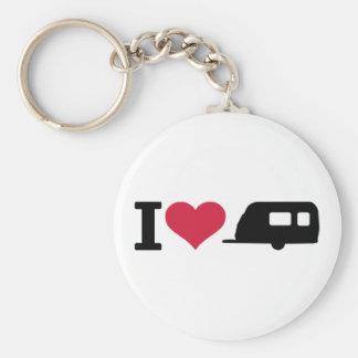 I love camping - caravan key chain