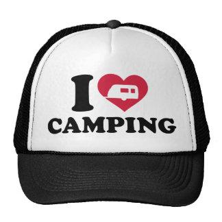 I love camping caravan trailer trucker hat