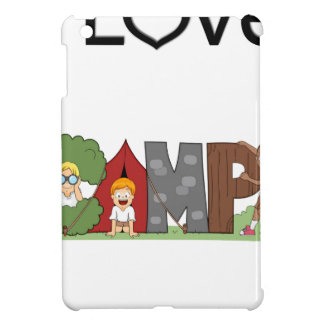 I Love Camping Cover For The iPad Mini