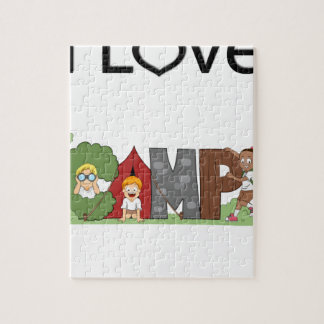 I Love Camping Jigsaw Puzzle