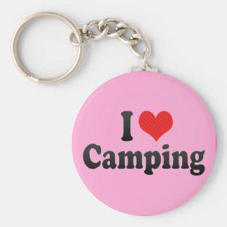 I Love Camping Key Chain