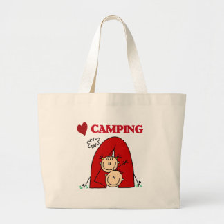 I Love Camping Large Tote Bag