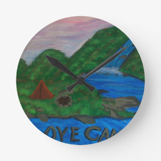 I love camping wallclock