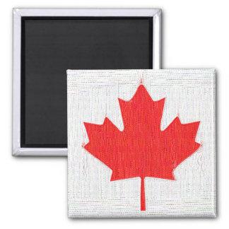 I love Canada! Canadian Flag Stitch Look Design Refrigerator Magnets
