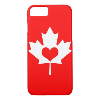 I Love Canada - Canadian Maple Leaf iPhone 7 Case
