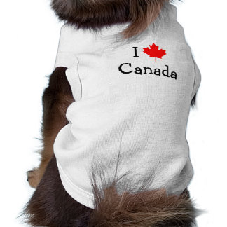 I Love Canada Dog T-Shirt