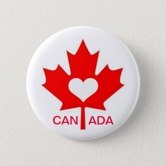 I Love Canada ~ July 1st 6 Cm Round Badge
