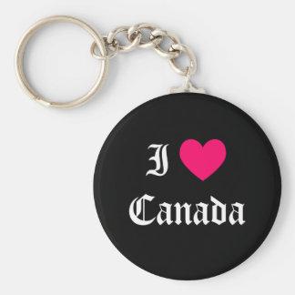 I Love Canada Key Ring