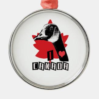 I Love Canada Metal Ornament