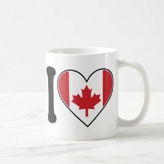 I Love Canada Coffee Mugs