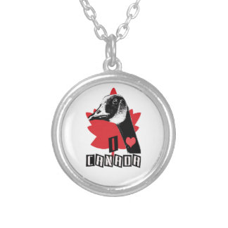 I Love Canada Silver Plated Necklace