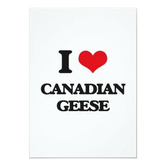 "I love Canadian Geese 5"" X 7"" Invitation Card"