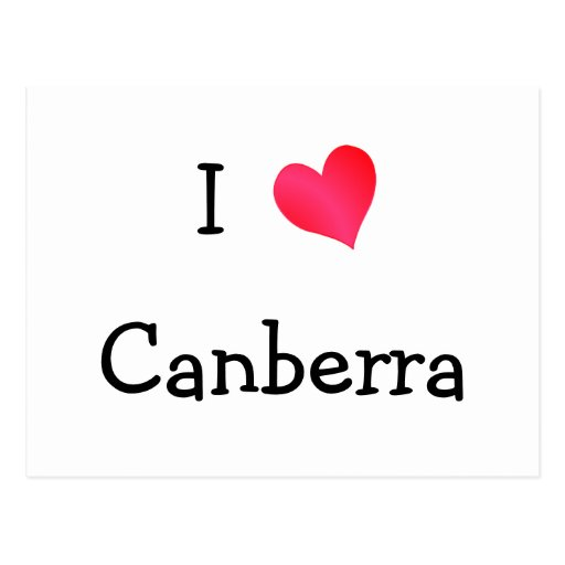 I Love Canberra Post Card