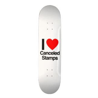 i love canceled stamps skate boards