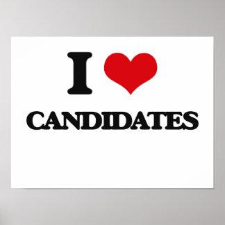 I love Candidates Print