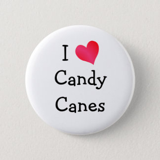 I Love Candy Canes 6 Cm Round Badge