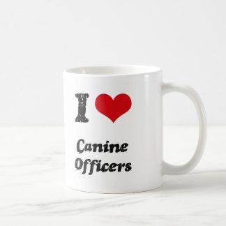 I love Canine Officers Coffee Mugs