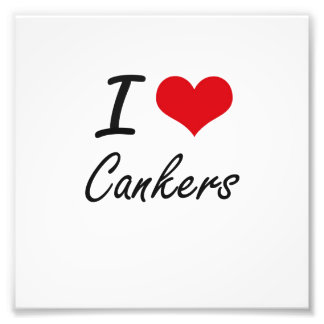 I love Cankers Artistic Design Photo Print