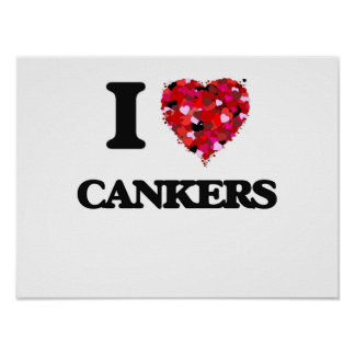 I love Cankers Poster
