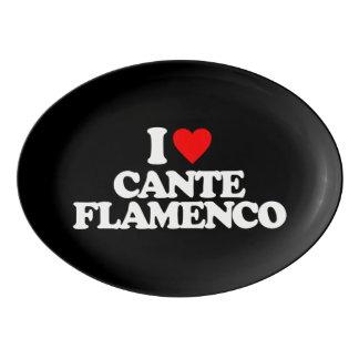 I LOVE CANTE FLAMENCO PORCELAIN SERVING PLATTER