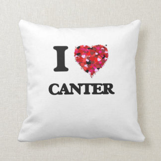 I love Canter Throw Pillow