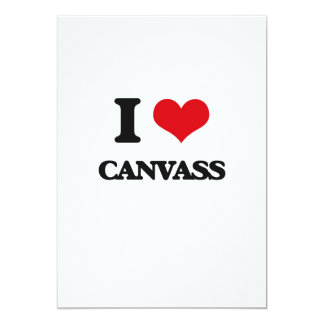 "I love Canvass 5"" X 7"" Invitation Card"