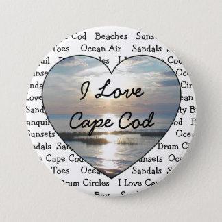 I Love Cape Cod Heart Button