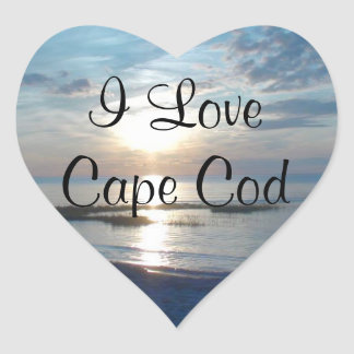 I Love Cape Cod Heart Stickers