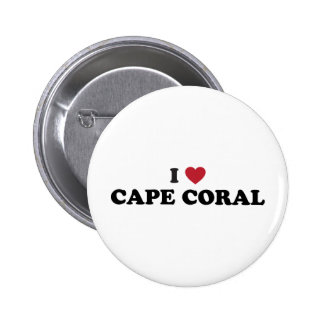 I Love Cape Coral Florida Pin