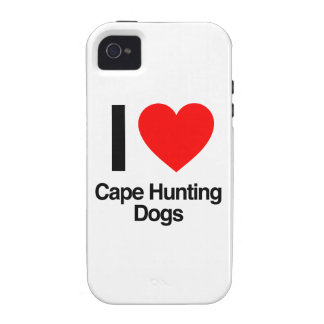 i love cape hunting dogs iPhone 4/4S cases