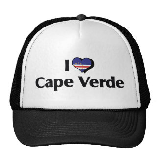I Love Cape Verde Flag Cap