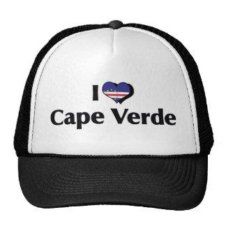 I Love Cape Verde Flag Trucker Hats