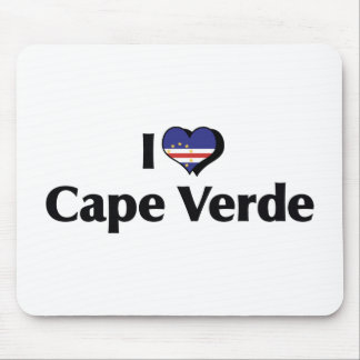 I Love Cape Verde Flag Mouse Pad