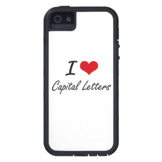 I love Capital Letters Artistic Design iPhone 5 Case