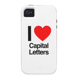 i love capital letters iPhone 4 cases