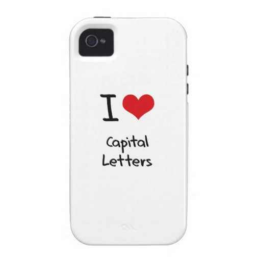 I love Capital Letters Case-Mate iPhone 4 Case