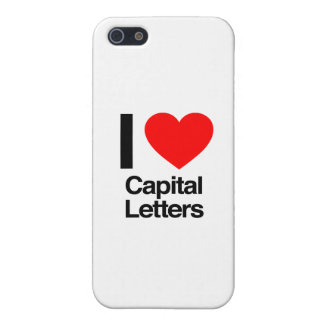 i love capital letters covers for iPhone 5