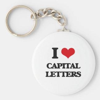 I love Capital Letters Keychain