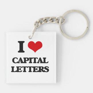 I love Capital Letters Acrylic Key Chain