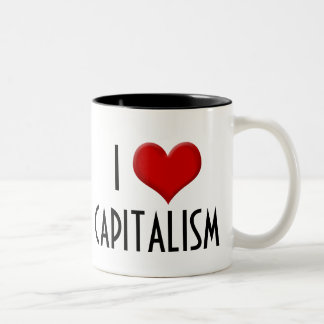 I Love Capitalism Conservative Right-Wing Two-Tone Mug