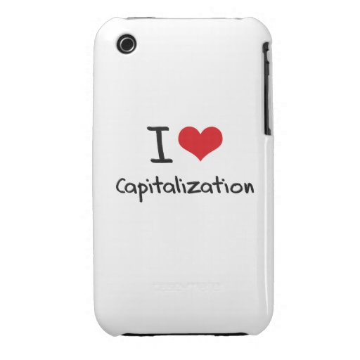 I love Capitalization iPhone 3 Cases