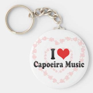 I Love Capoeira Music Key Ring