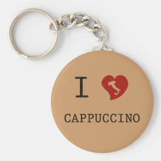 I Love Cappuccino Vintage Key Ring